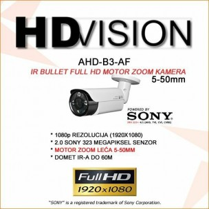 AHD 2.0MP BULLET KAMERA - 5-50MM MOTOR ZOOM LEĆA
