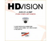 AHD 4.0MP DOME KAMERA - 3.6MM