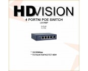 4 PORTNI POE SWITCH 65W